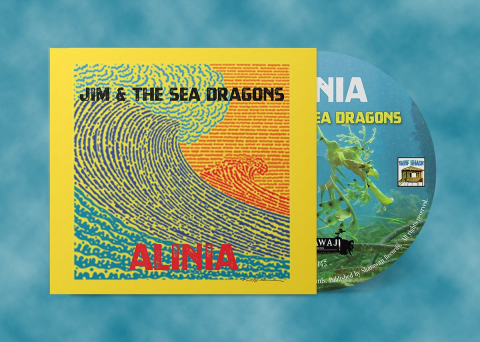 SRW145 Jim & The Sea Dragons  - Alinia (Jacket CD)These 11 instrumentals are the perfect soundtrack for a drive down your favourite coast. Buy it here on CD and a digital download - https://jimandtheseadragons.bandcamp.com/album/alinia#jimandtheseadragons #sharawajirecords #orlando #surf #instro #reverb #twang