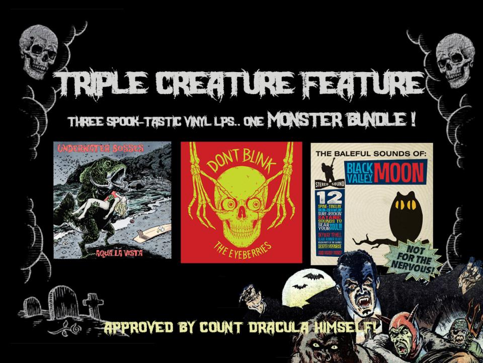 TRIPLE VINYL BUNDLE! Underwater Bosses - Aqua La Vista (Transluscent Red Tide Vinyl), The Eyeberries - Don